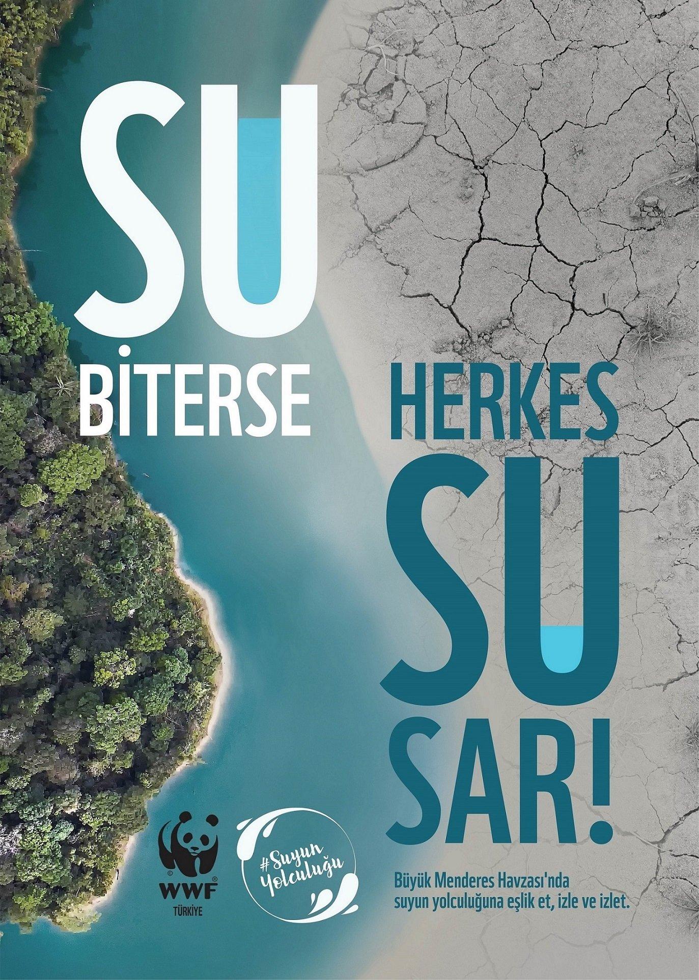 WWF Turkey's water scarcity awareness campaign.