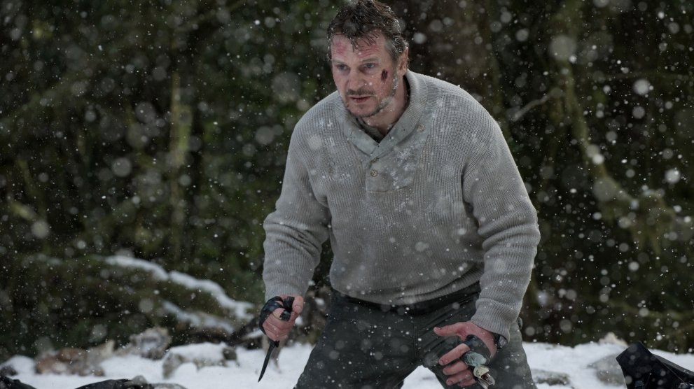 Liam Neeson as John Ottway in a scene from