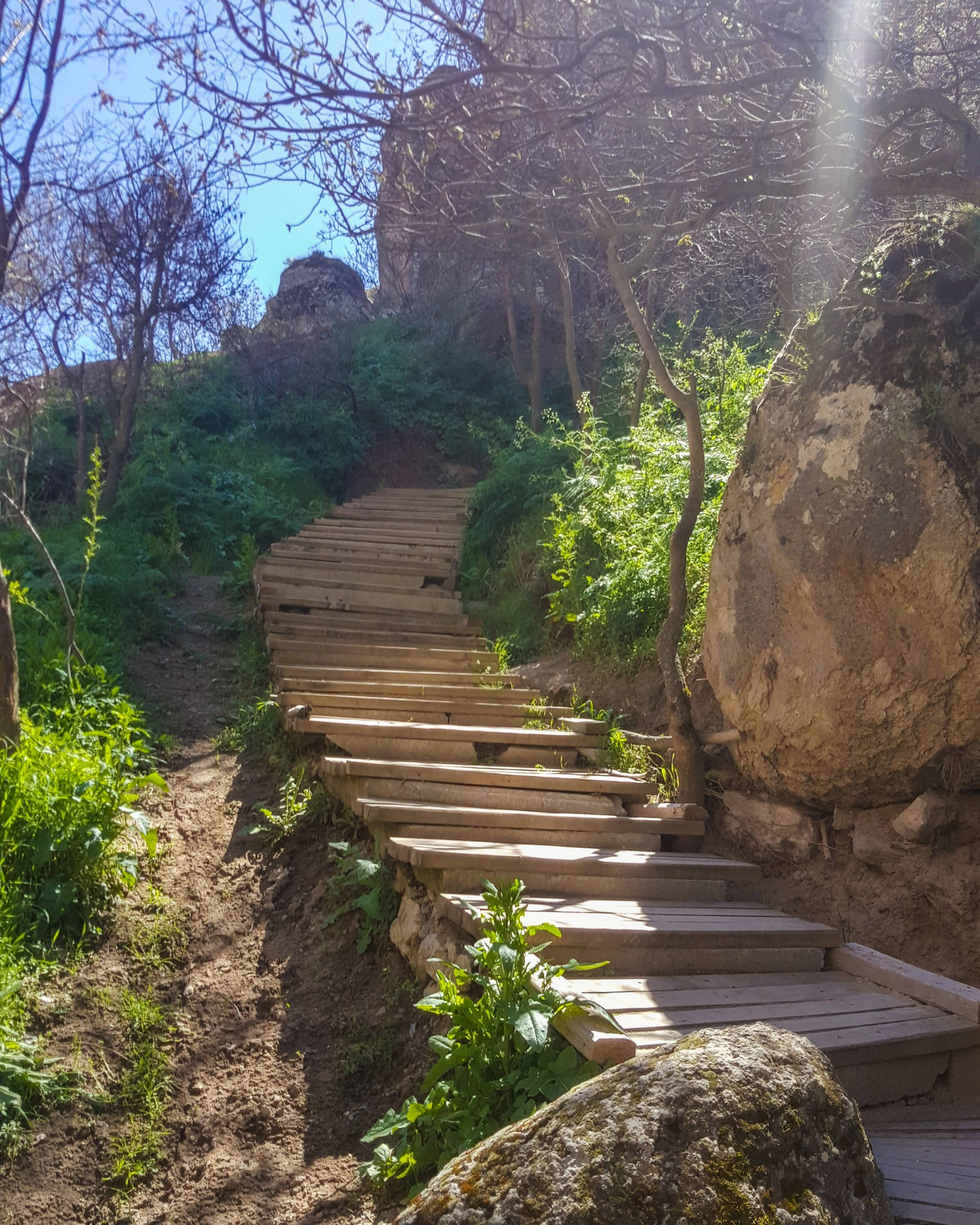 The churches in Ihlara Valley are built very high up, requiring you to climb a lot of steps if you want to see them. (Photo by Argun Konuk)