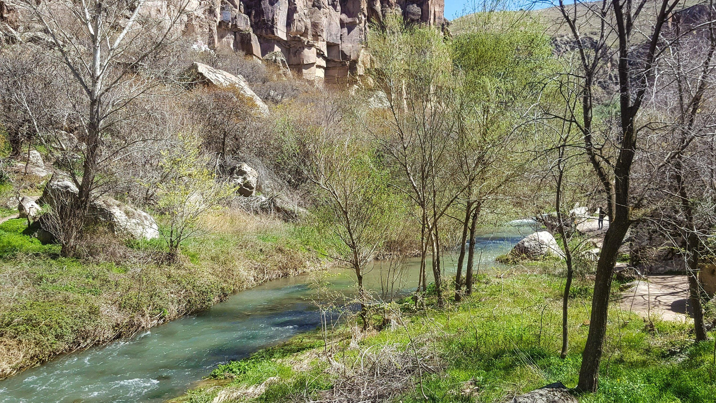 The Melendiz Stream flows through Ihlara Valley. (Photo by Argun Konuk)