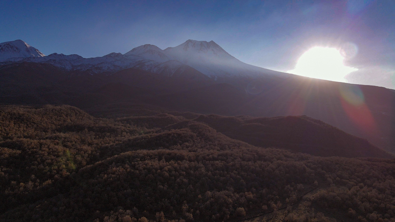 As the sun sets behind Mount Hasan, Ihlara Valley basks in warm colors. (Photo by Argun Konuk)