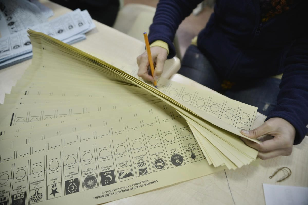 Turkish voting papers. (File Photo)