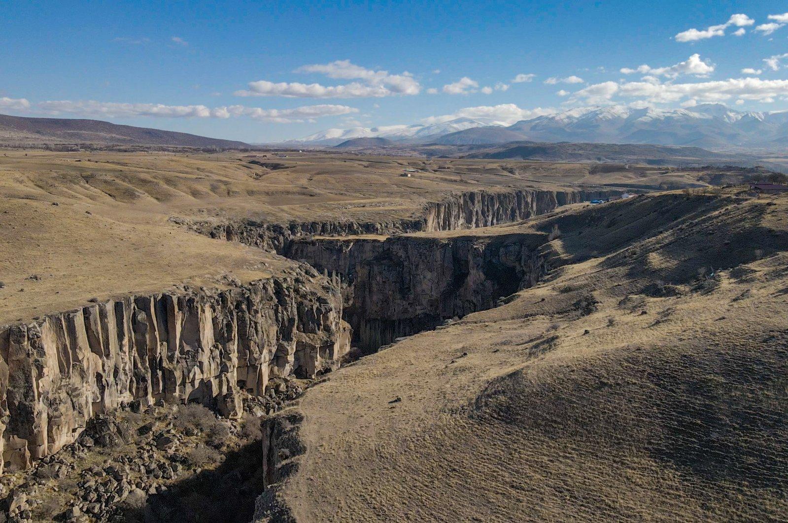 An aerial shot of Ihlara Valley. (Photo by Argun Konuk)