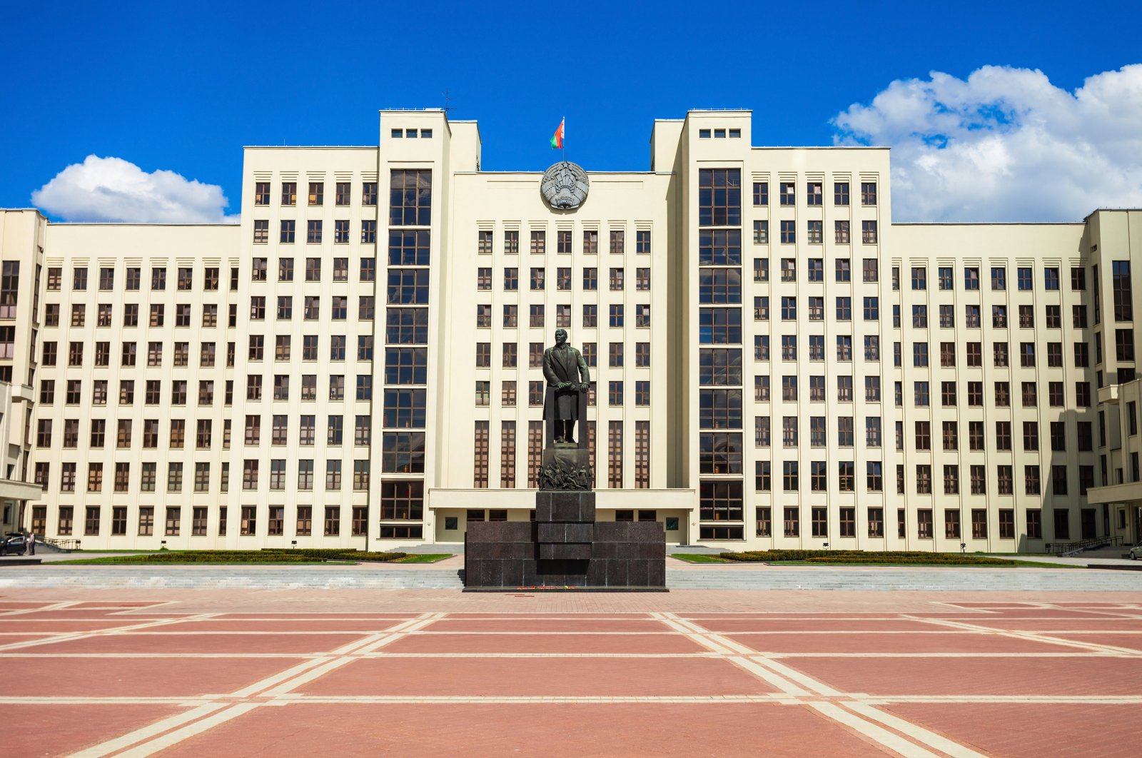 A general view of the House of the Government building in Minsk, Belarus. (Shutterstock Photo)