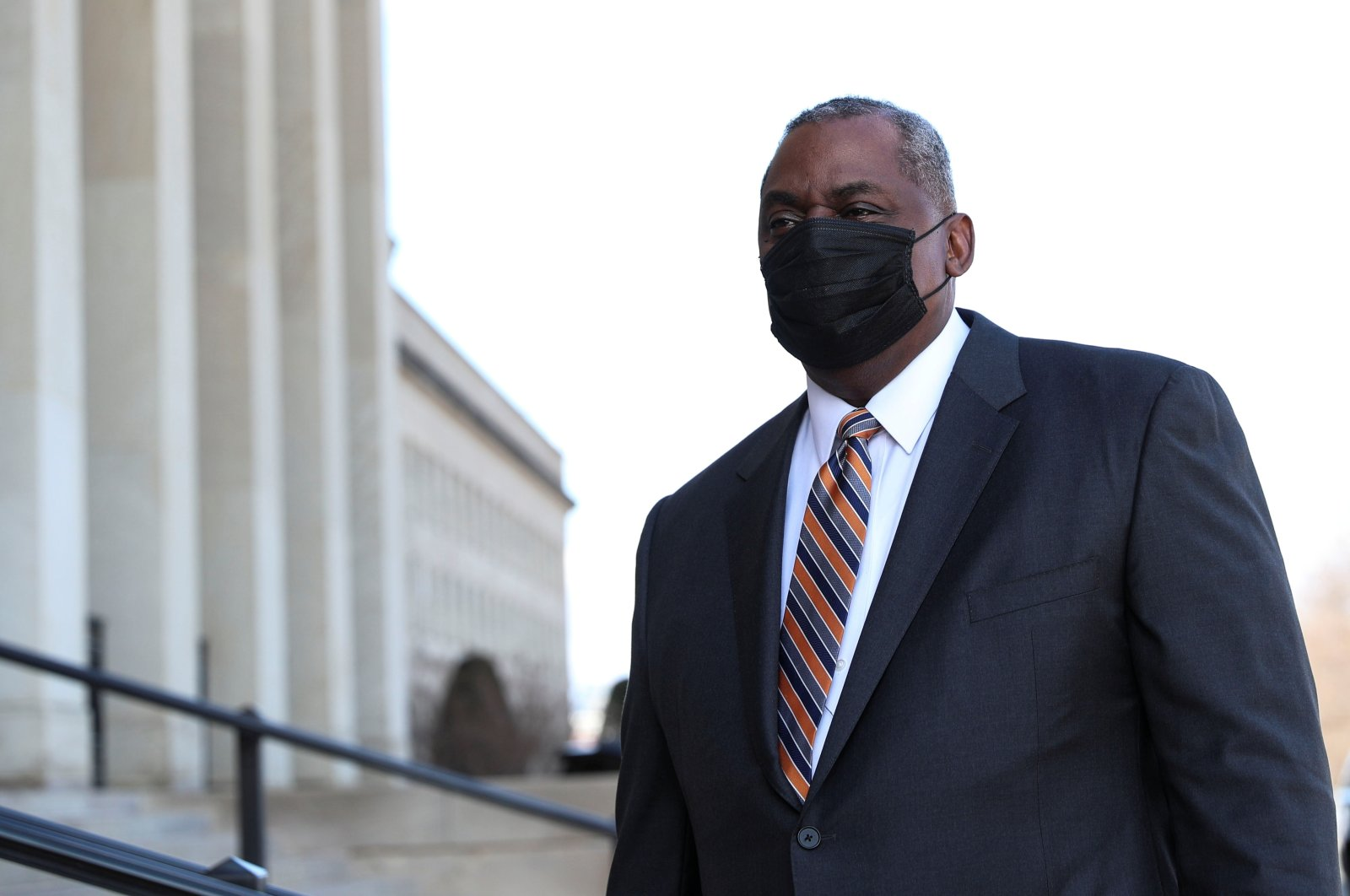 Newly confirmed U.S. Defense Secretary Lloyd Austin arrives to begin his first day in office at the Pentagon in Arlington, Virginia, U.S., January 22, 2021. (Reuters Photo)