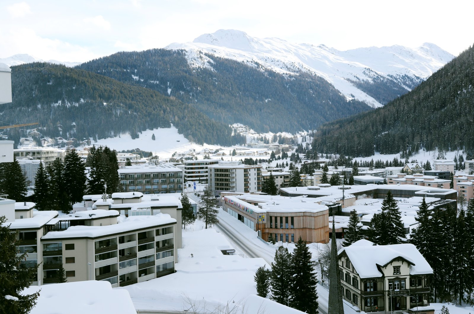 A view shows the congress center at Promenade street as the coronavirus outbreak continues in Davos, Switzerland Jan. 22, 2021. (Reuters Photo)
