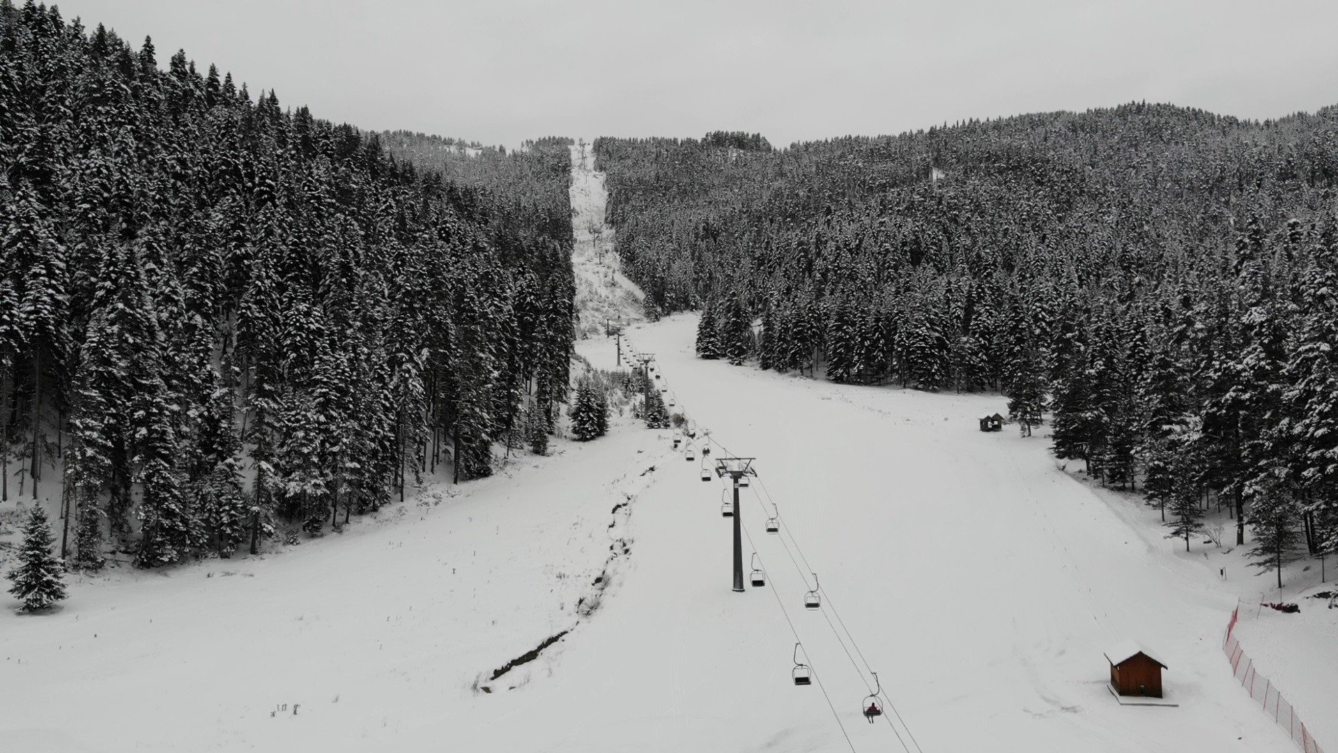 The Ilgaz mountains are home to one of the top 10 ski resorts in Turkey. (IHA Photo)