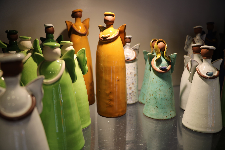 Clay products shaped as women of diverse backgrounds, in Çanakkale, northwestern Turkey, Jan. 23, 2021. (AA Photo)