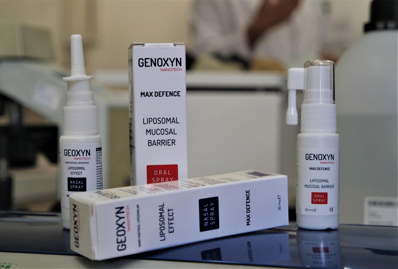 The Genoxyn nasal spray is seen in this photo taken Jan. 22, 2021 at the laboratories of Uludağ University in Turkey's northwestern Bursa province. (AA Photo)