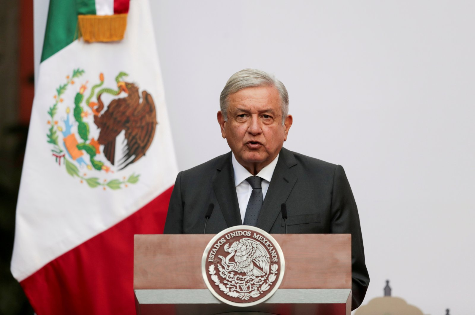 Mexico's President Andres Manuel Lopez Obrador addresses the nation on his second anniversary as the president of Mexico, at the National Palace in Mexico City, Mexico, Dec. 1, 2020. (Reuters Photo)
