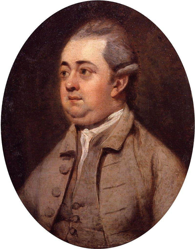 Edward Gibbon by English painter Henry Walton.