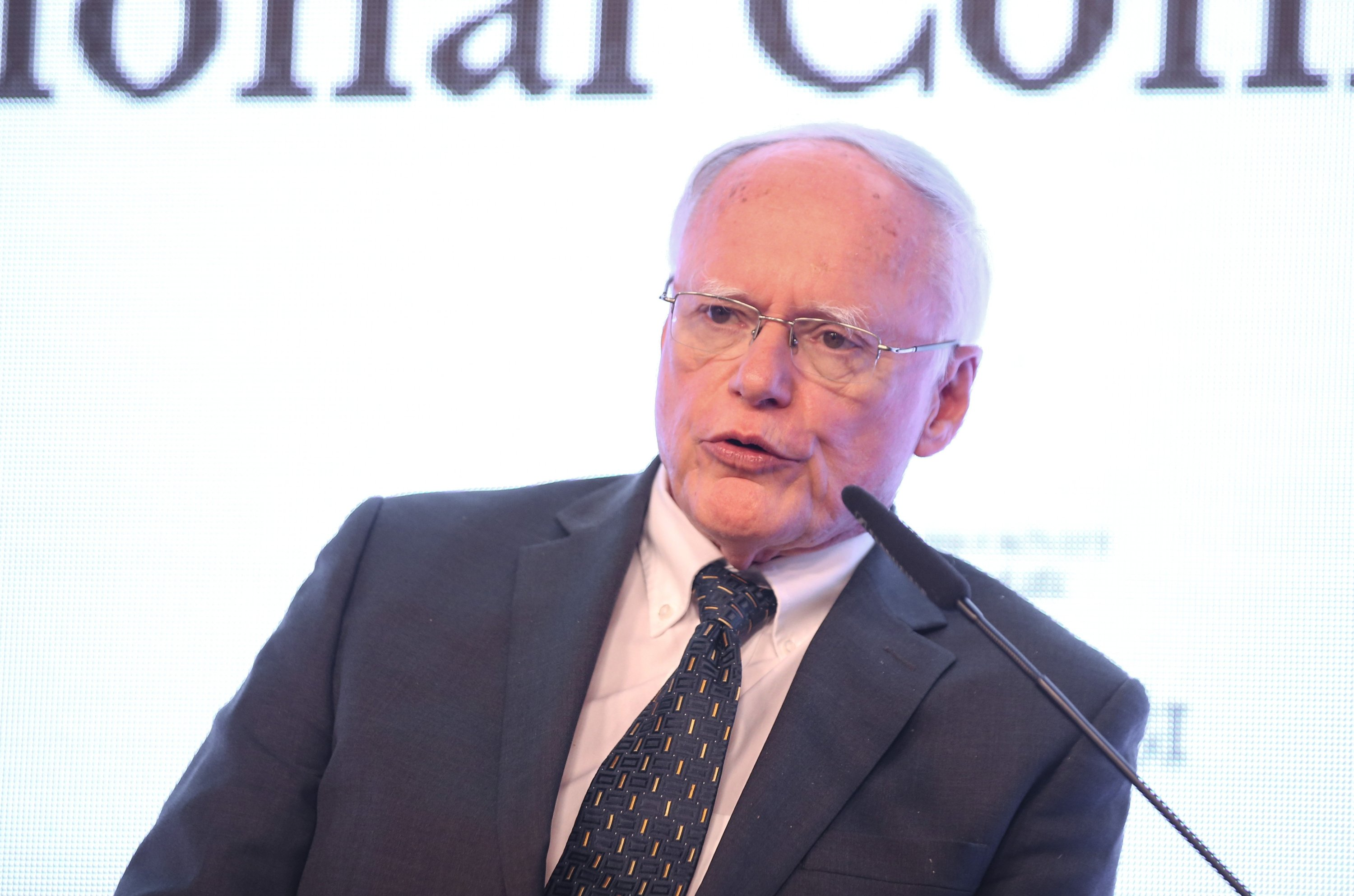 James Jeffrey, the former U.S. special envoy for Syria, speaks during a conference in Istanbul, Turkey, March 6, 2020. (AA Photo)