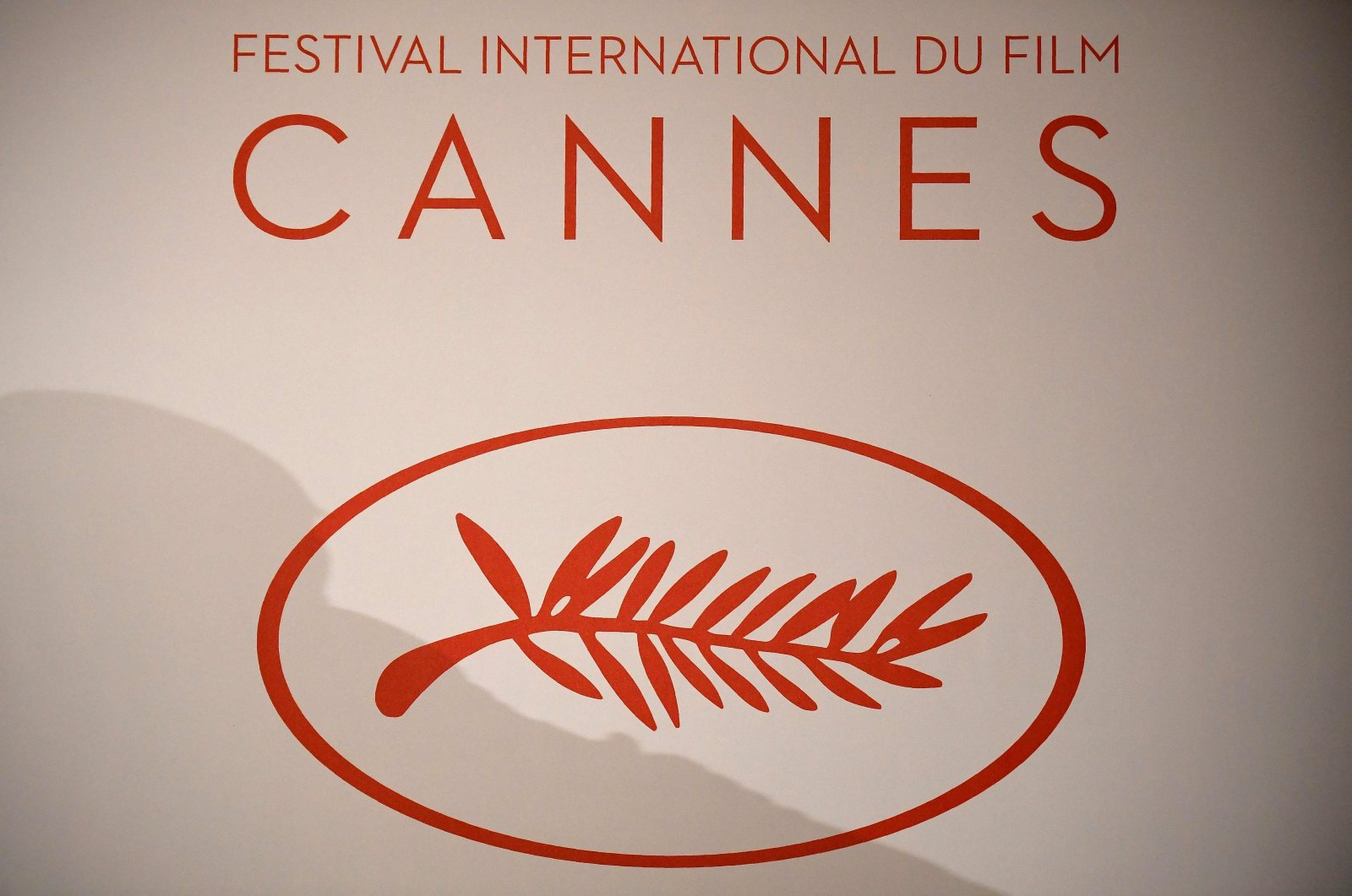 The logo of the International Cannes Film Festival is pictured during a press conference, in Paris, France, April 13, 2017. (AFP Photo)