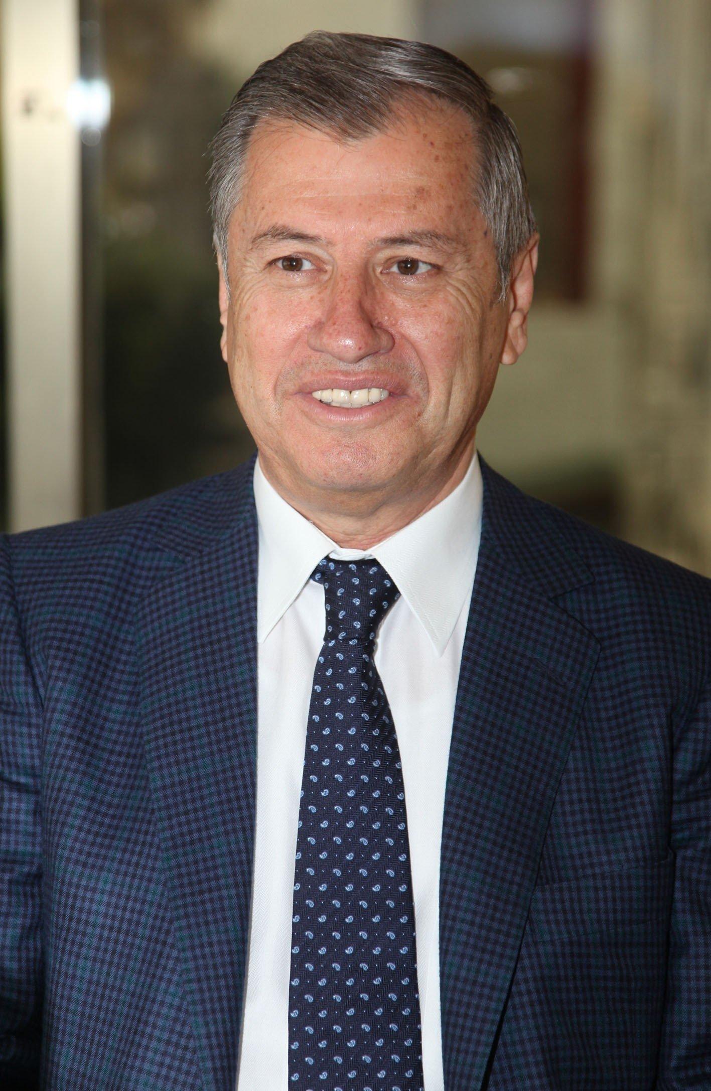 Atila Menevse, chairperson of the Adana Chamber of Commerce, in Adana, southern Turkey, Jan. 25, 2021. (IHA Photo)