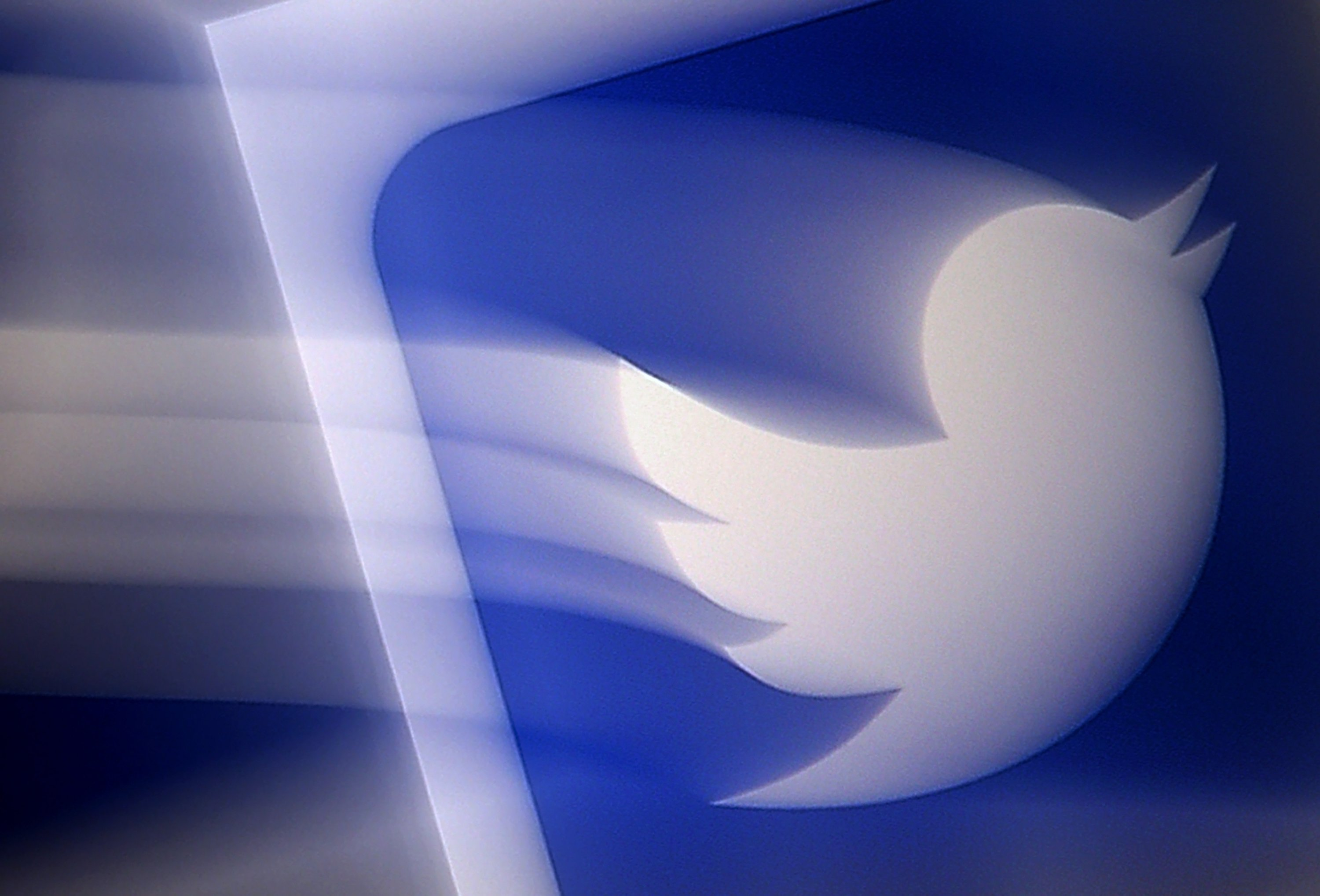 A Twitter logo displayed on a mobile phone, Arlington, Virginia, the U.S., Aug. 10, 2020. (AFP Photo)
