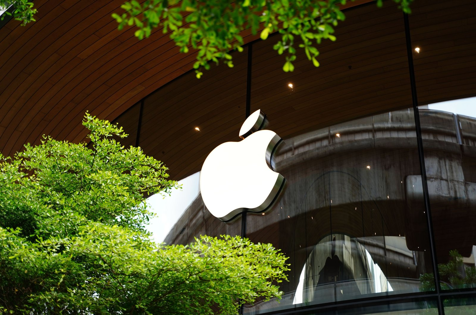 Apple's logo seen on an Apple store building, in Bangkok, Thailand, Dec. 27, 2020. (Shutterstock Photo)