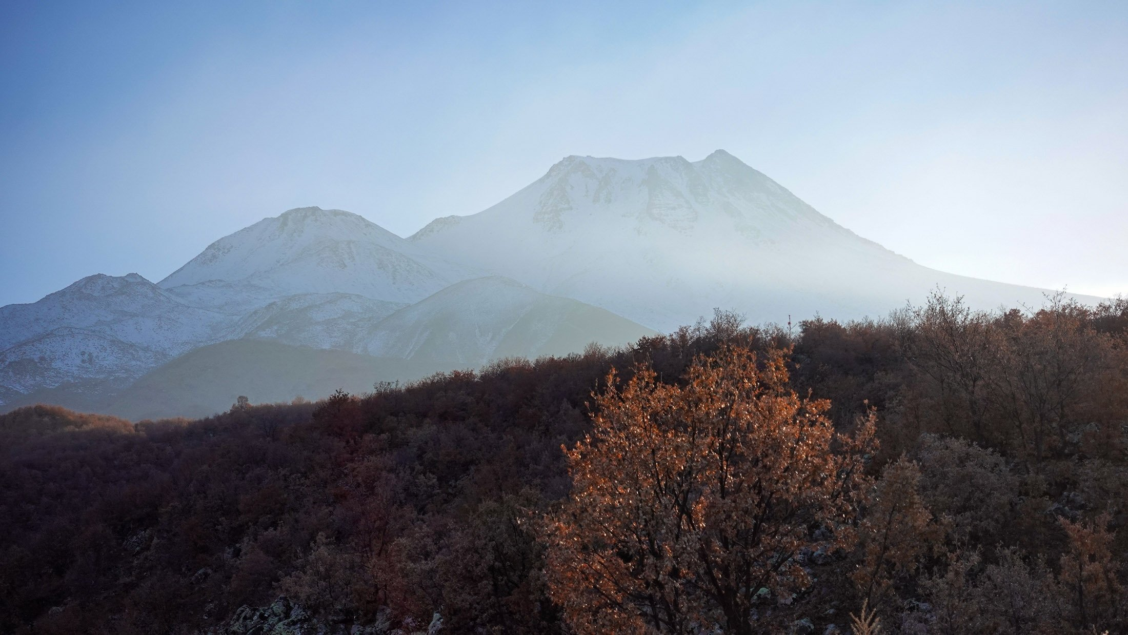 The view of Mount Hasan from the ancient city of Mokissos. (Photo by Argun Konuk)