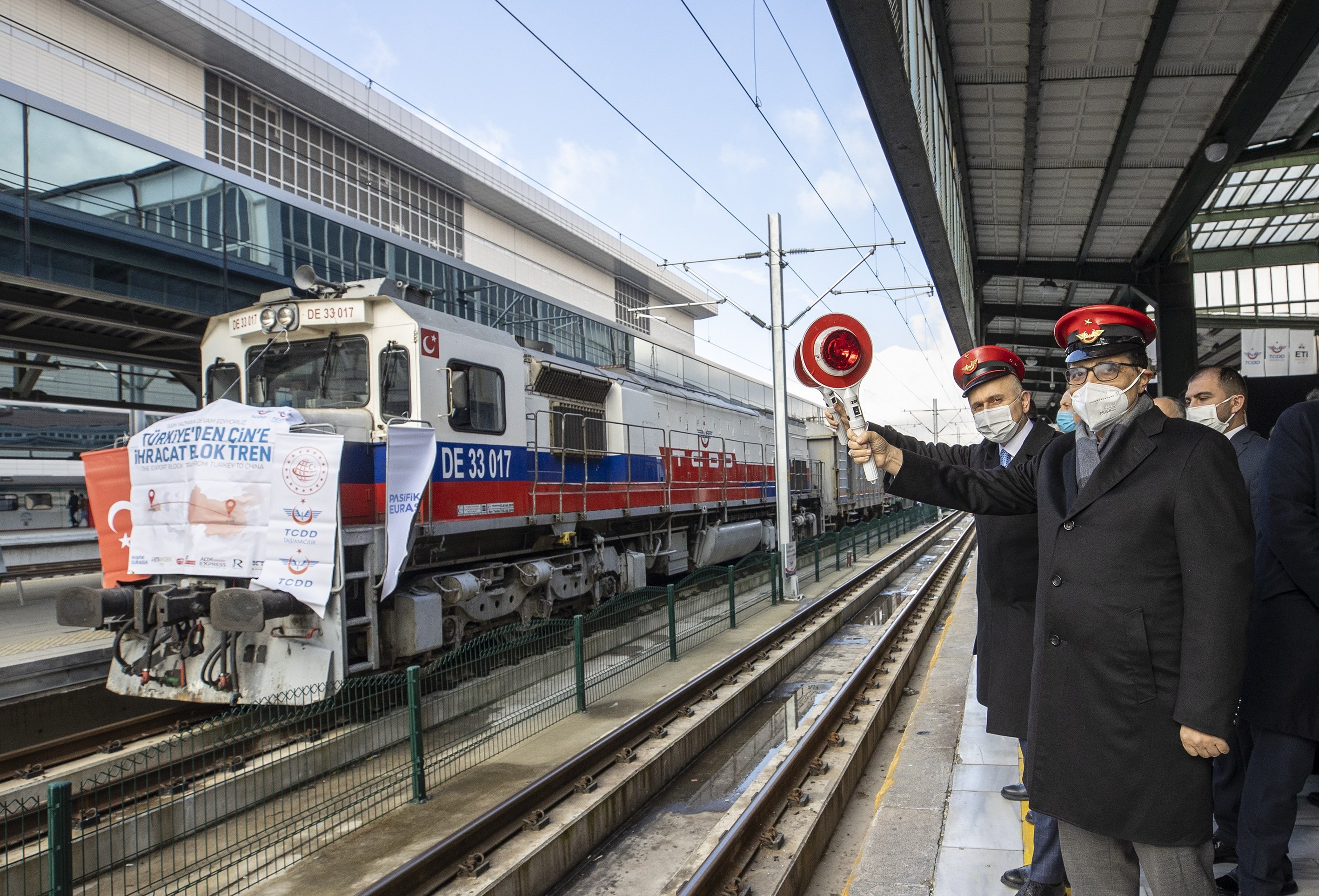 Turkey Sends Off Export Trains En Route To Russia China Via Btk Daily Sabah