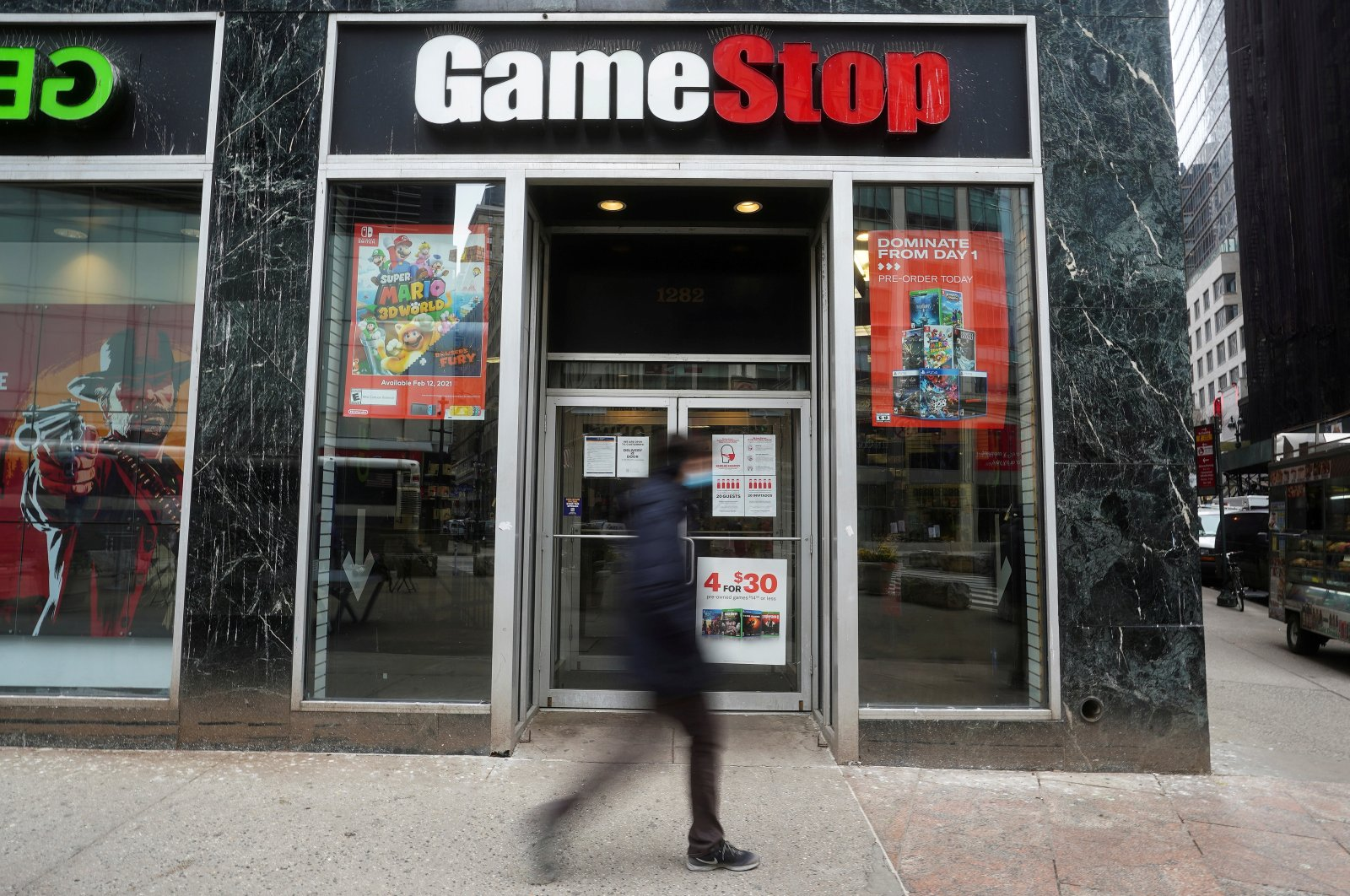 A GameStop store is pictured amid the pandemic in the Manhattan borough of New York City, New York, U.S., Jan. 27, 2021. (Reuters Photo)
