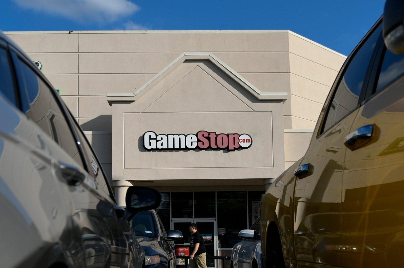 A man walks past a GameStop store in Austin, Texas, U.S., on March 26, 2018. (Reuters Photo)