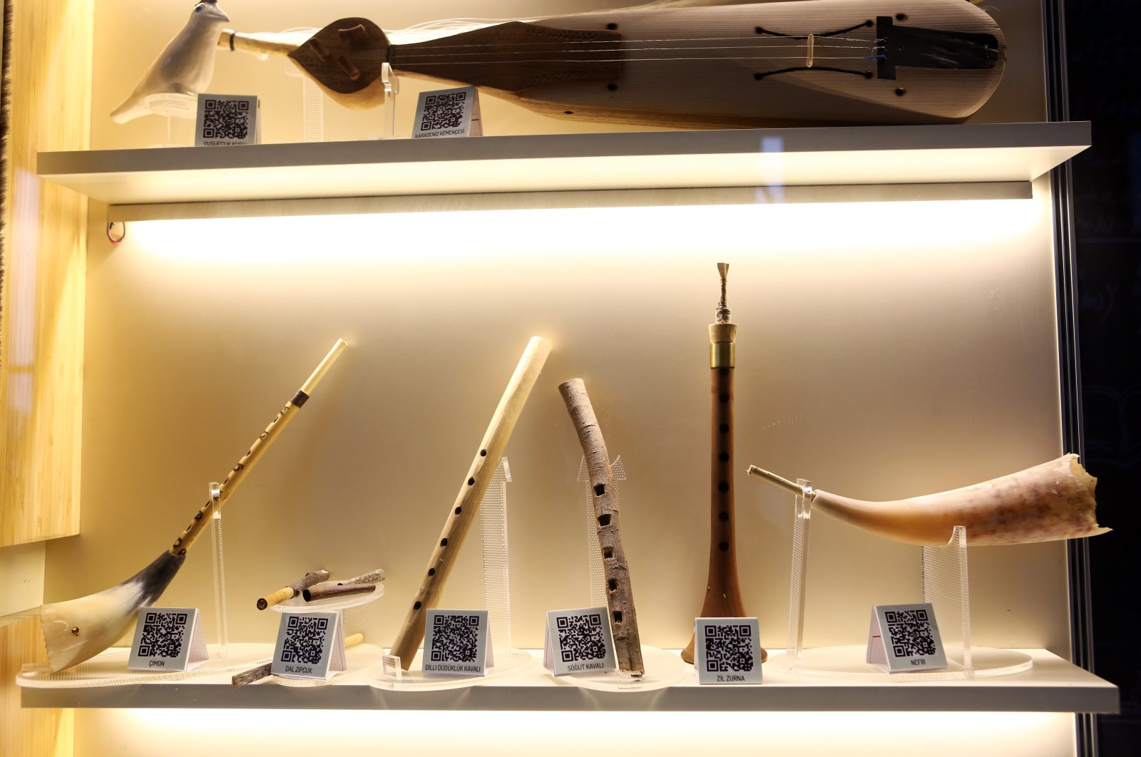 A selection of musical instruments on display in the Ipekyolu Museum, Trabzon, northern Turkey, Jan. 27, 2021. (AA Photo)