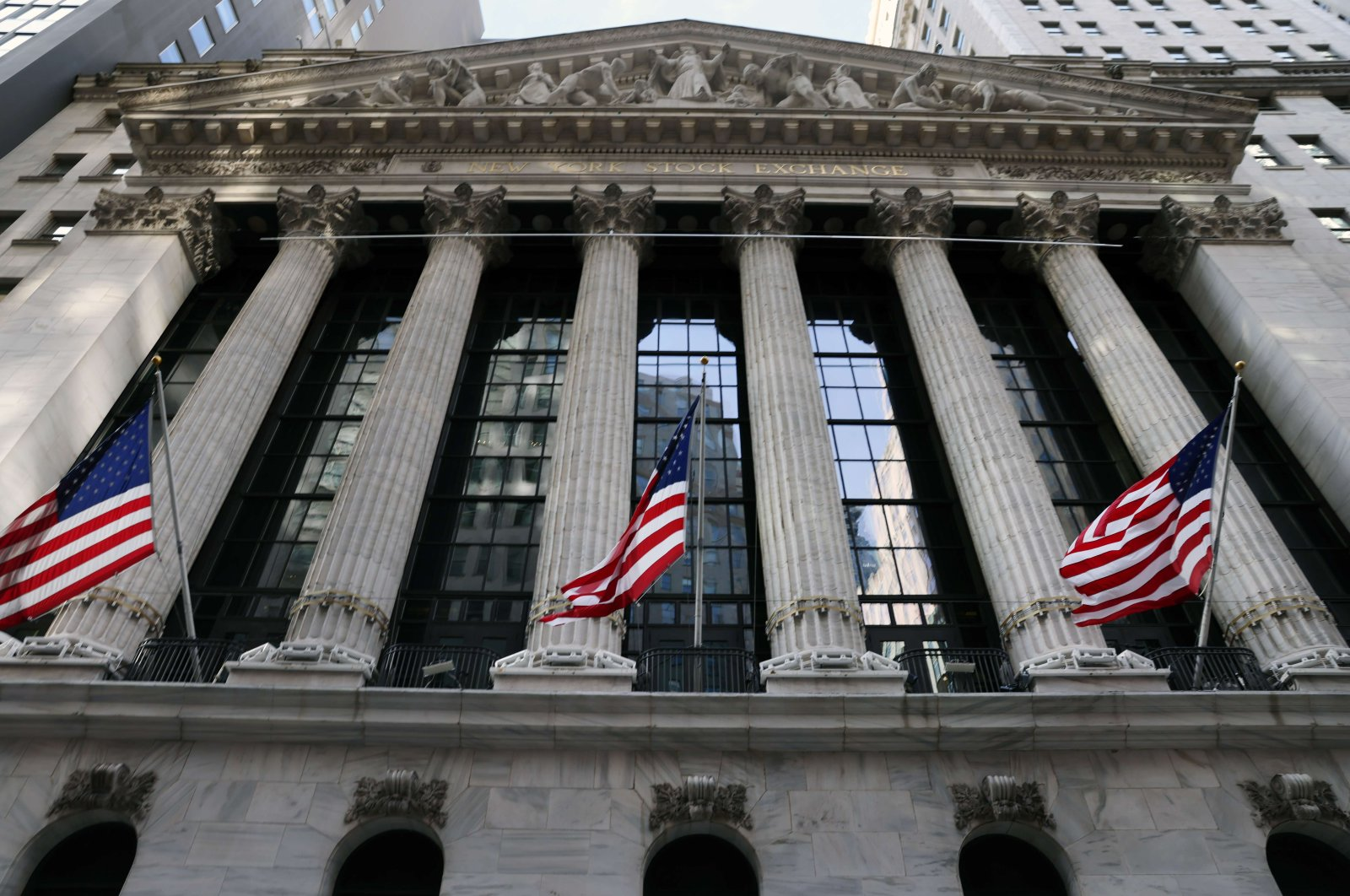 The New York Stock Exchange (NYSE) in the Financial District in Manhattan, New York on Jan. 28, 2021. (Getty Images/AFP Photo)