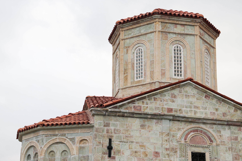The tower structure of the Saint Michael Church, Trabzon, northeastern Turkey, Jan. 28, 2021. (AA Photo)