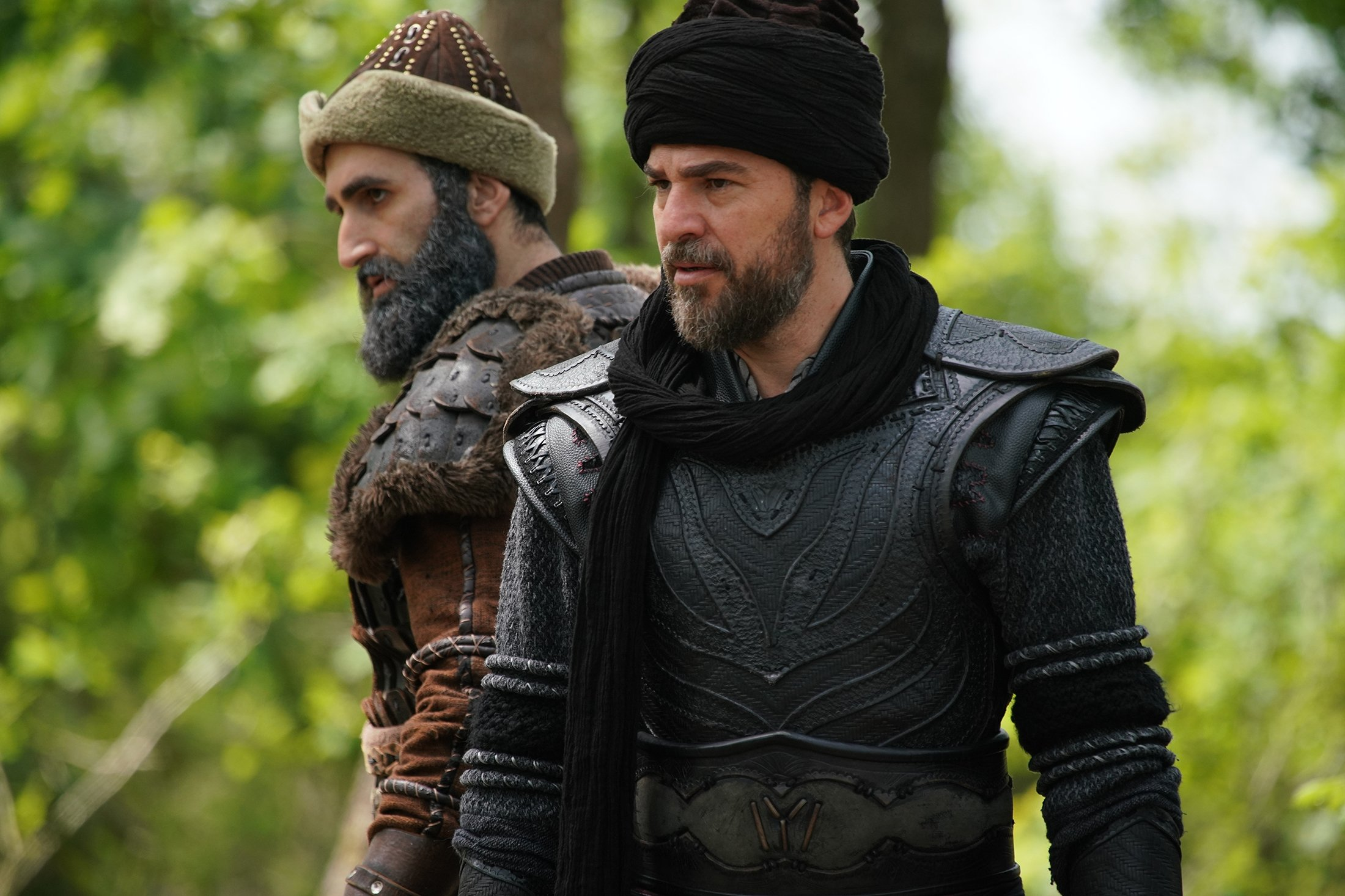 Börk hats (pictured on the left) have made a comeback thanks to Turkish historical drama Resurrection: Ertuğrul. (SABAH / FILE Photo)