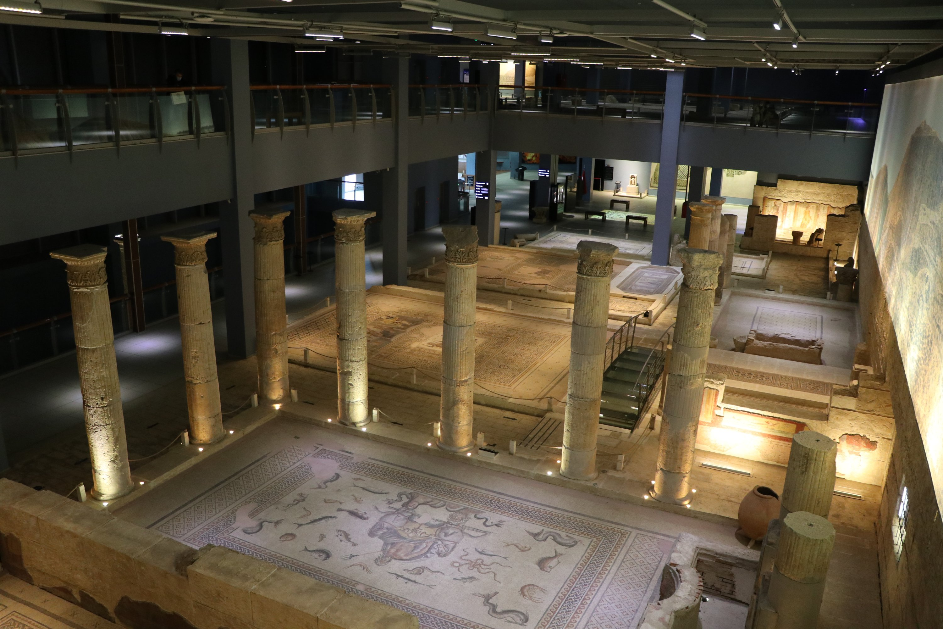 A general view inside the Zeugma Mosaic Museum, Gaziantep, southeastern Turkey, Jan. 29, 2021. (AA Photo)