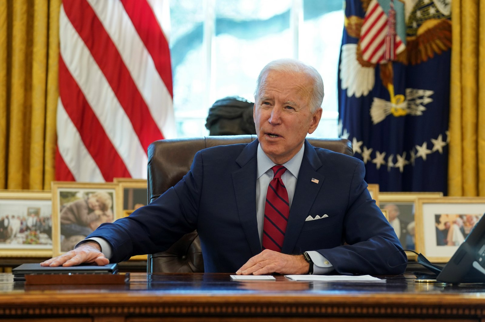 U.S. President Joe Biden speaks before signing executive orders strengthening access to affordable health care at the White House in Washington, U.S., Jan. 28, 2021. (Reuters Photo)