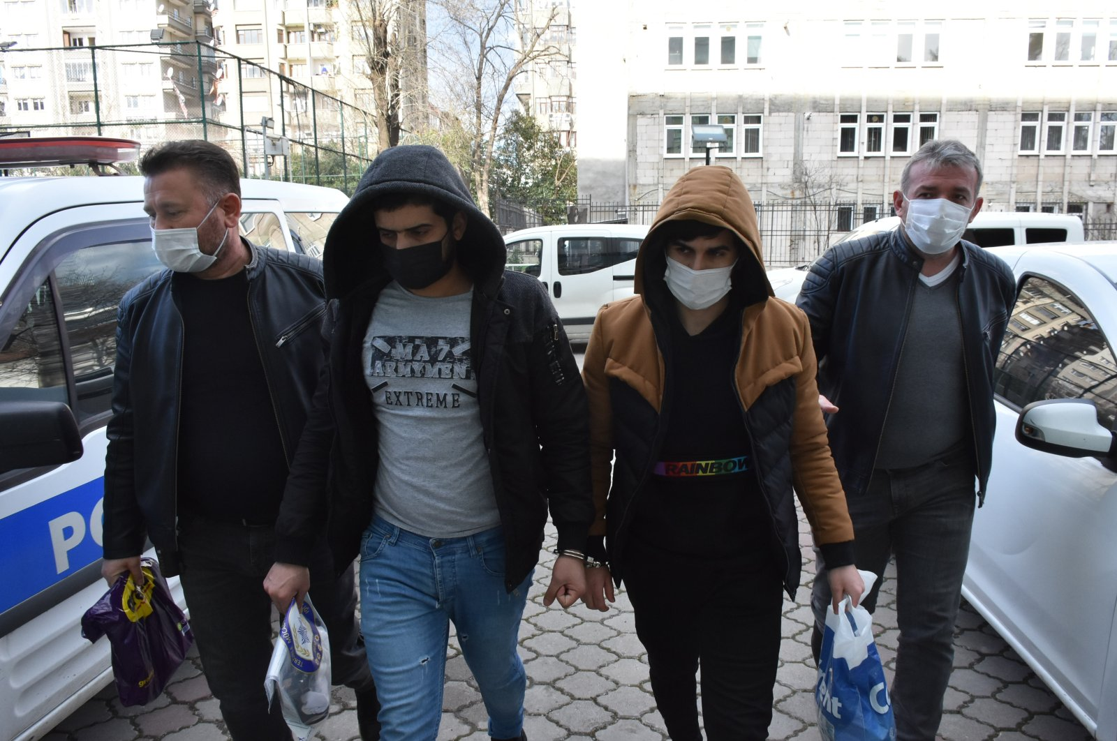 Three Iraqi nationals with links to the Daesh terror group were arrested in Turkey's northern province Samsun, Feb. 2, 2021. (AA Photo)