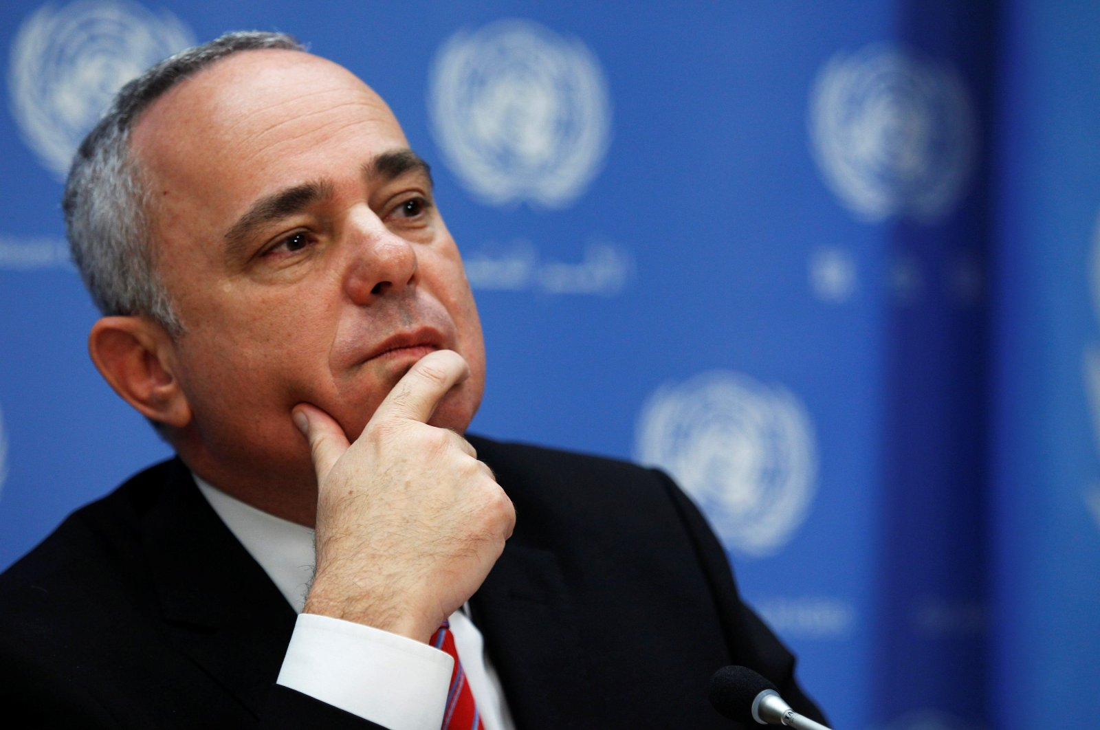 Israeli Energy Minister Yuval Steinitz attends a news conference in New York, U.S., Sept. 25, 2013. (Reuters Photo)