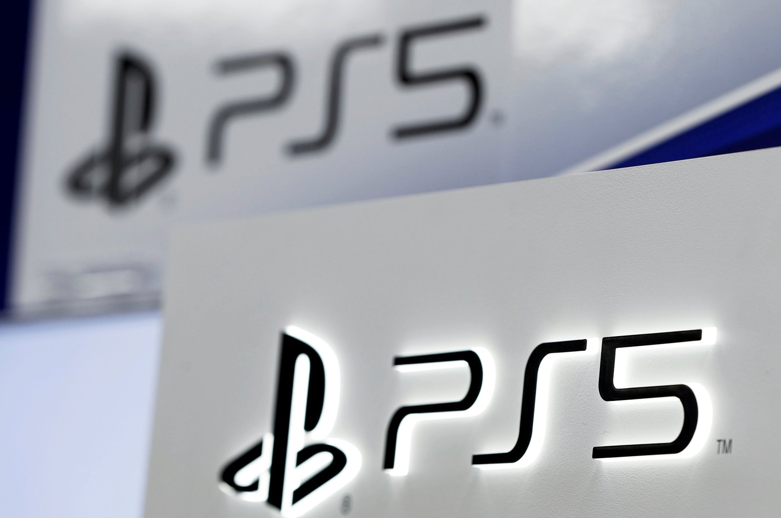 The logos of Sony's PlayStation 5 are displayed at the consumer electronics retailer chain Bic Camera, ahead of its official launch, in Tokyo, Japan, Nov. 10, 2020. (Reuters Photo)