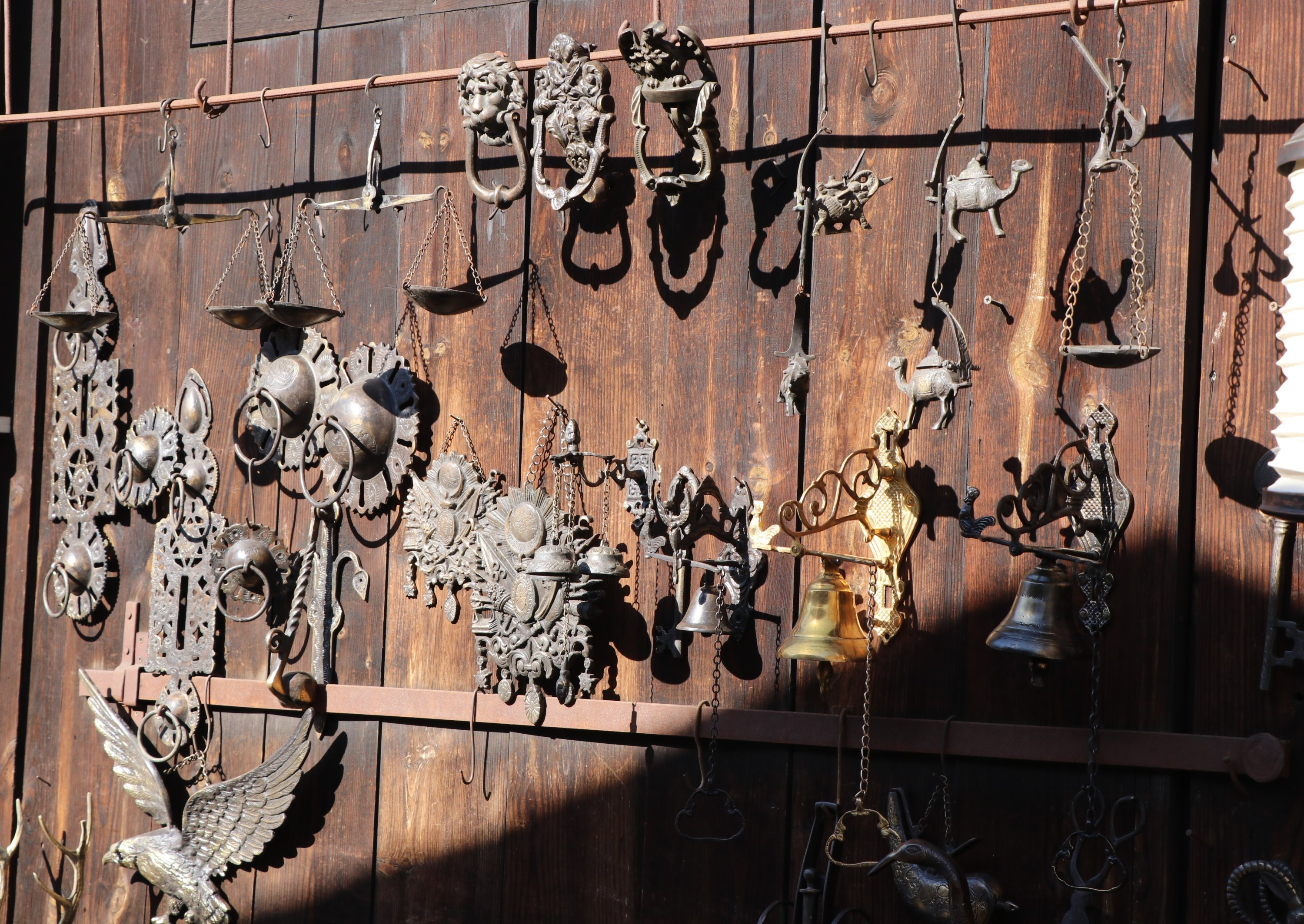 Various metal work are on display at one of the workshops of Blacksmiths Market in Safranbolu district of Karabük, northern Turkey, Feb. 3, 2021. (IHA Photo)