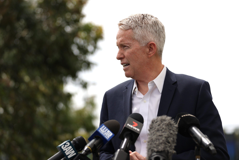 Craig Tiley, CEO of Tennis Australia speaks to the media during a press conference, Melbourne Park, Melbourne, Australia, Feb. 4, 2021. (Reuters Photo)