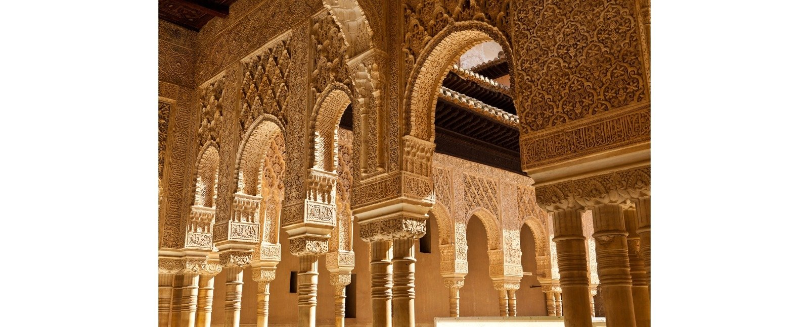 Moorish arches in the Court of the Lions at the Alhambra in Granada, southern Spain. (Shutterstock Photo)