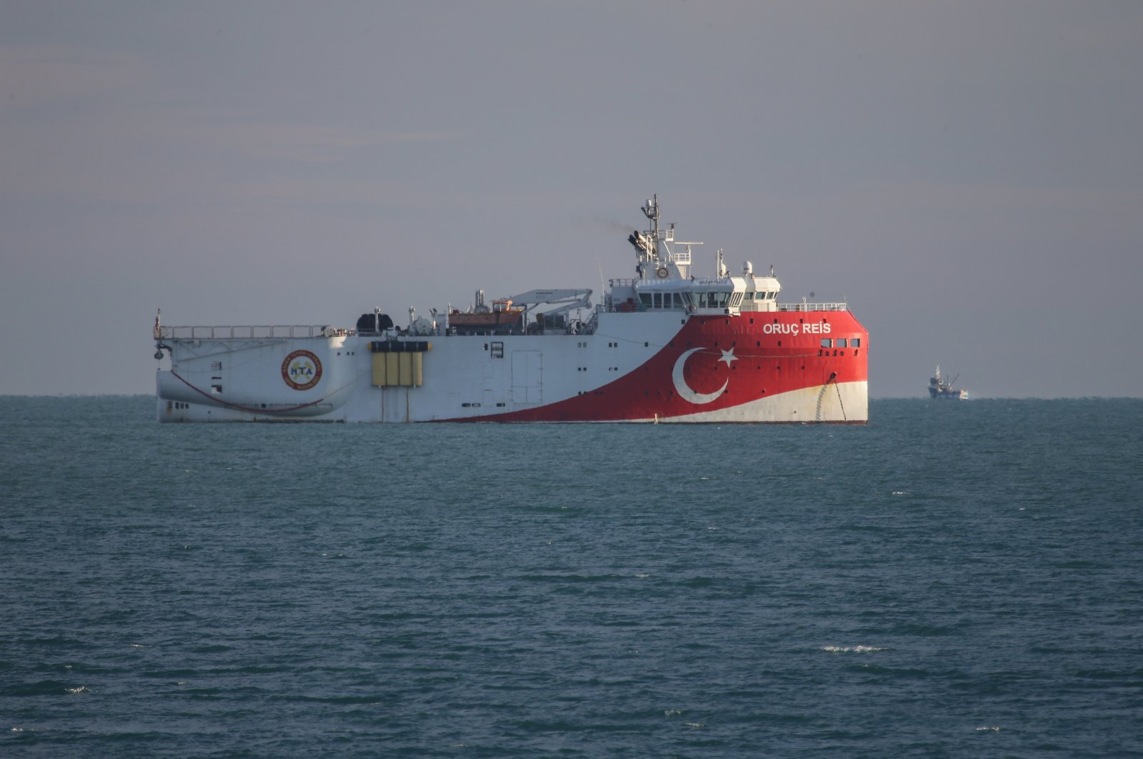 Turkey's seismic exploration vessel Oruç Reis is seen operating in the Eastern Mediterranean offshore near the country's southern Antalya province, Jan. 29, 2021. (AA Photo)
