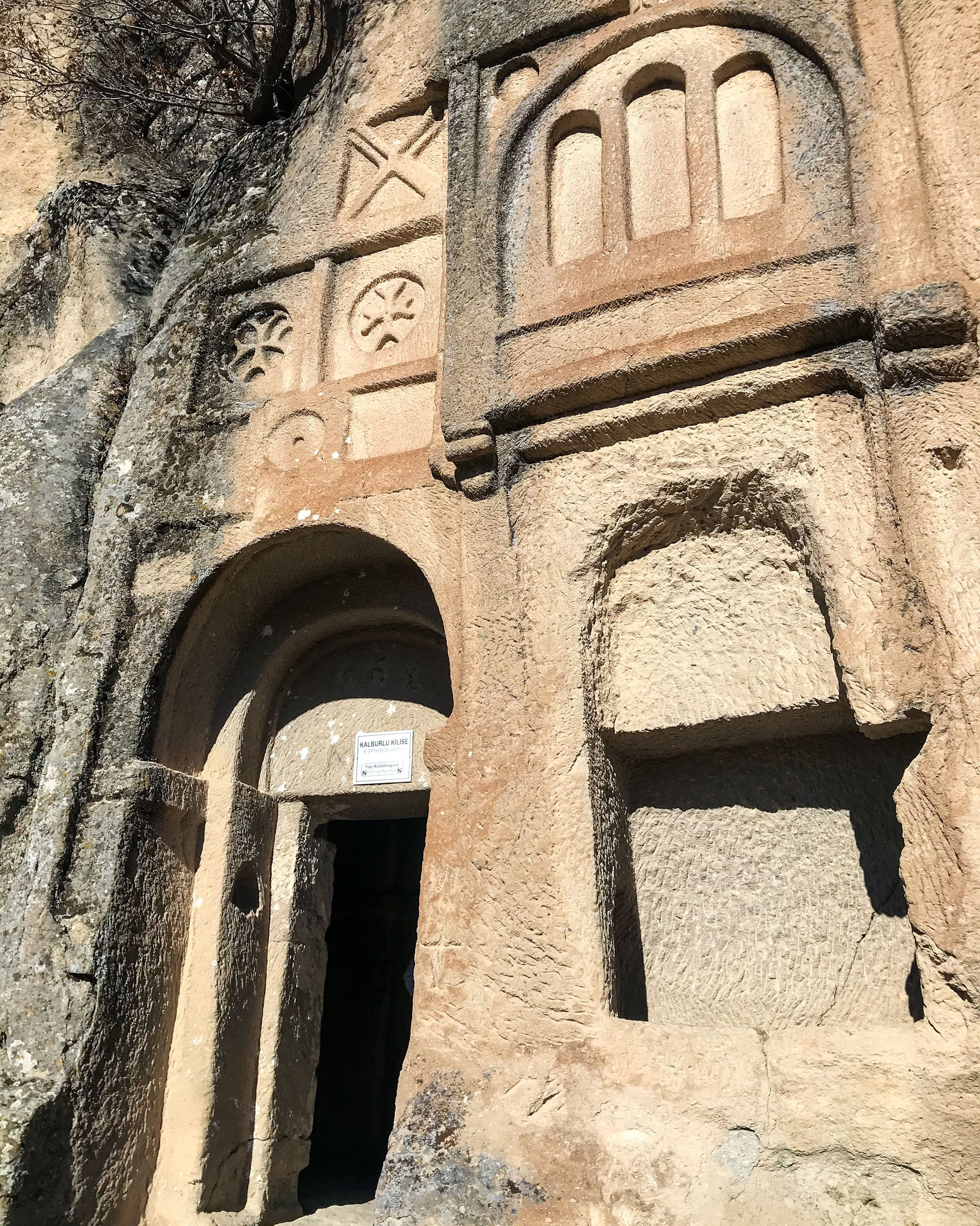 The entrance to Kalburlu Church. (Photo by Argun Konuk)