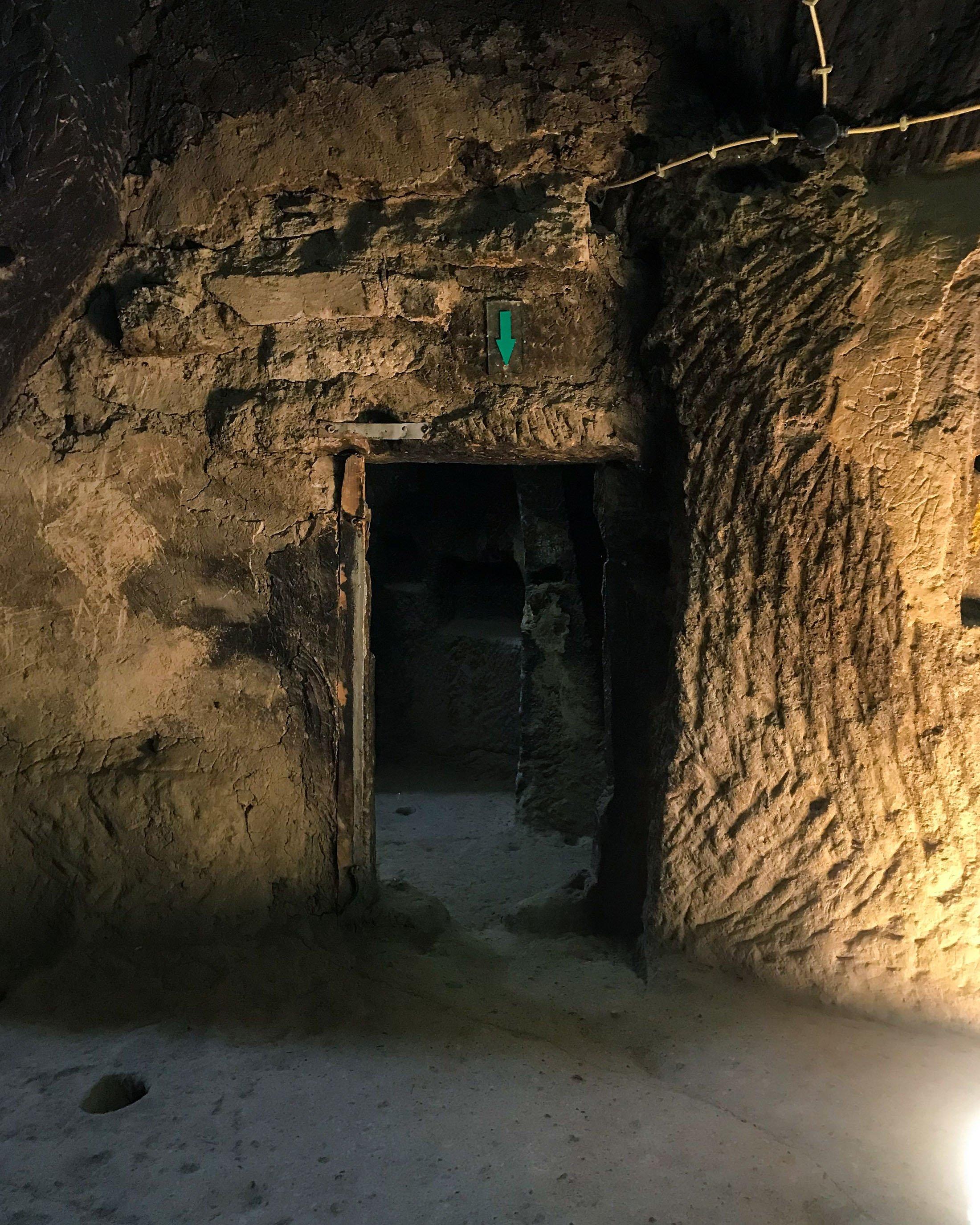 A passage in the second underground city of Güzelyurt. (Photo by Argun Konuk)