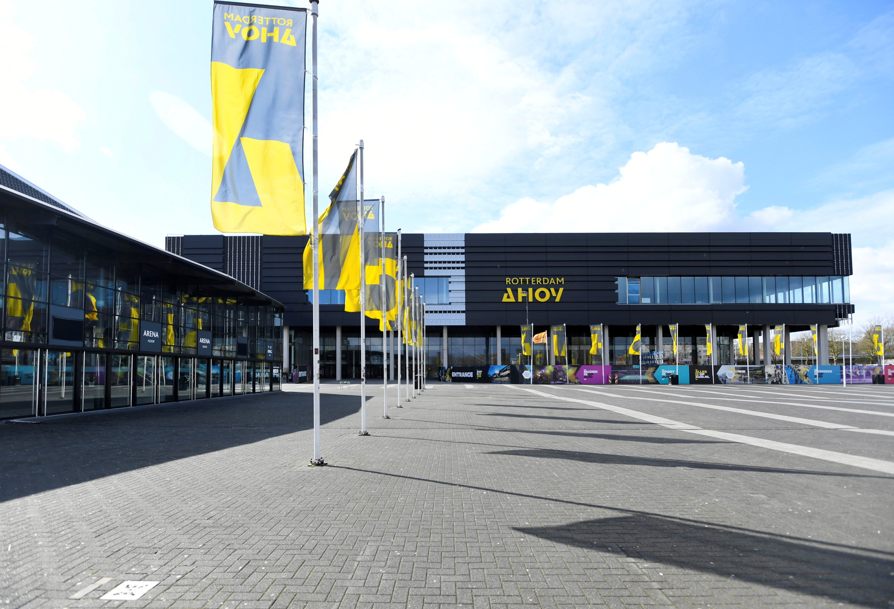 General view of the concert hall Ahoy, that should have hosted the Eurovision song contest in May, and now is used as an emergency hospital, as the spread of coronavirus disease (COVID-19) continues, in Rotterdam, Netherlands on March 30, 2020. (Reuters Photo)