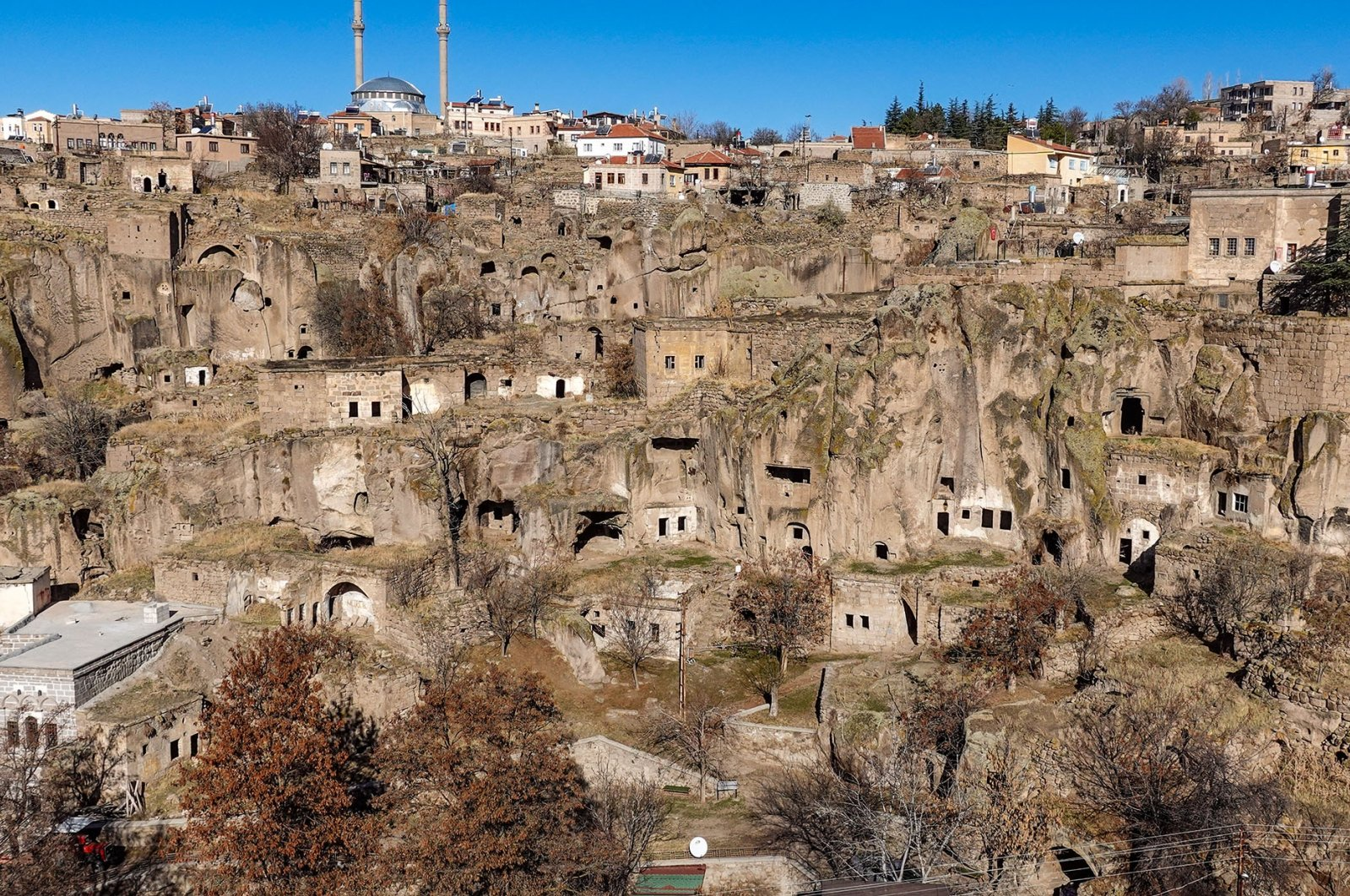 A view of Güzelyurt, aka mini Cappadocia, from the Observation Deck. (Photo by Argun Konuk)