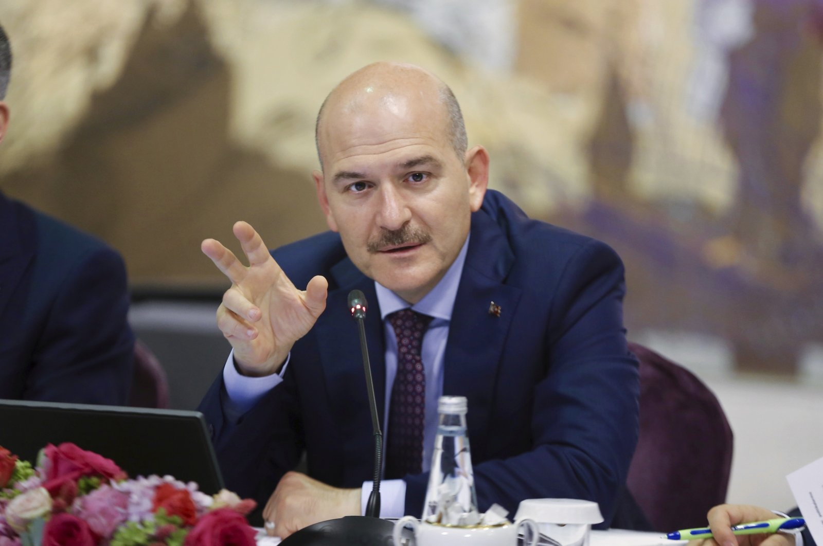 Interior Minister Süleyman Soylu speaks during a news conference in Istanbul, Turkey, Aug. 21, 2019.  (AP File Photo)