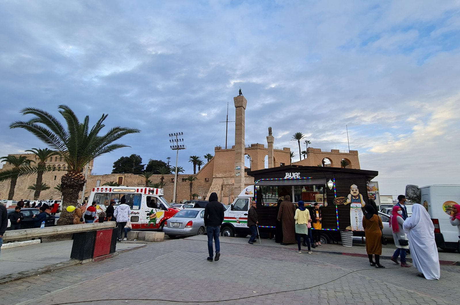 Libyans gather at Martyrs' Square in the capital Tripoli, Libya, Feb. 1, 2021. (AFP Photo)