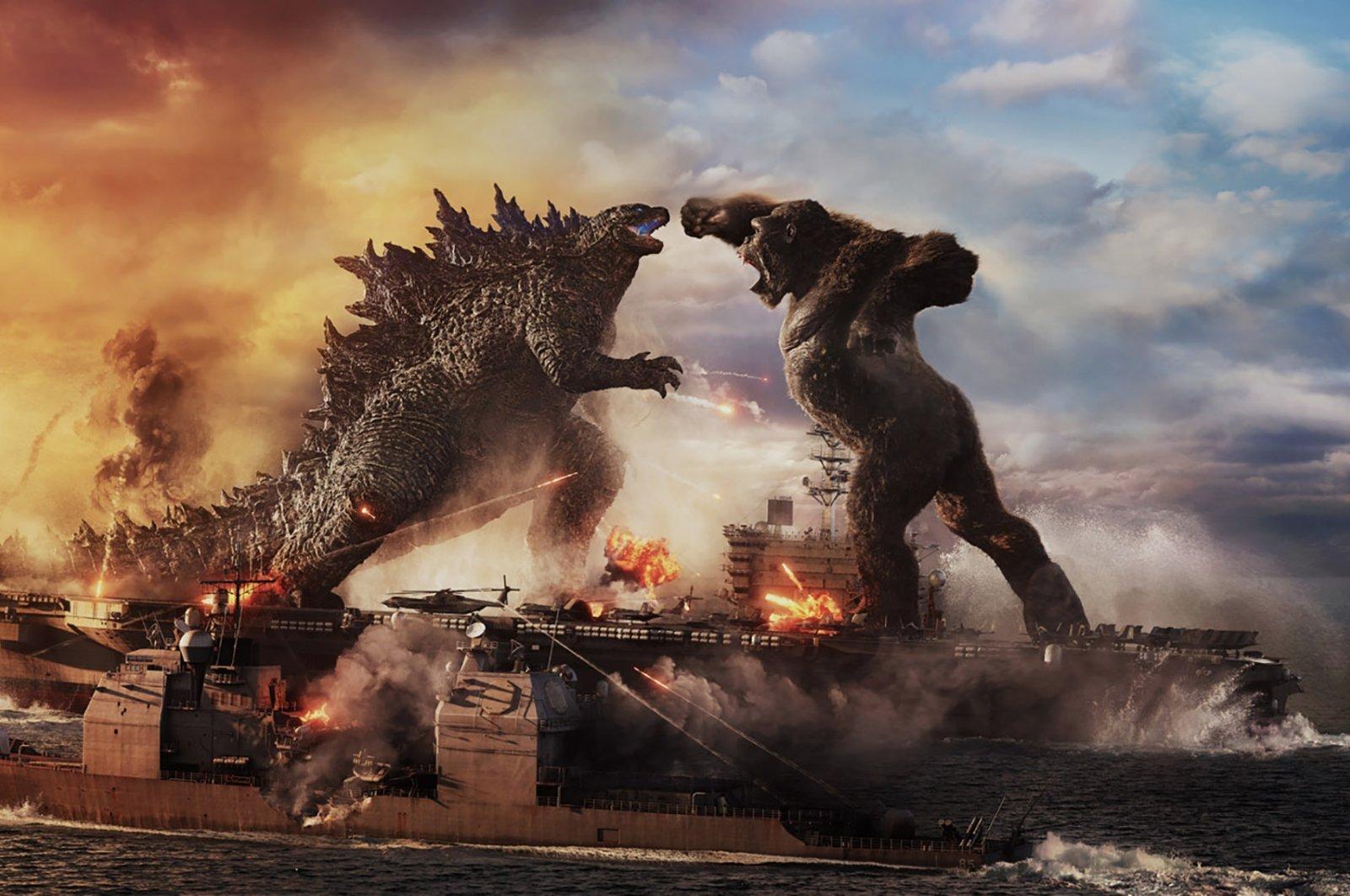 """A still shot from """"Godzilla vs. Kong."""""""