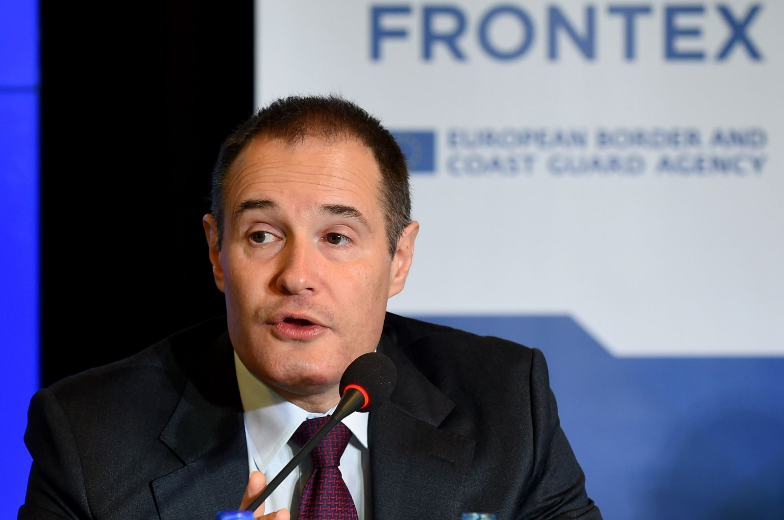 Frontex Executive Director Fabrice Leggeri addresses participants of the European Coast Guard Cooperation Network meeting in Warsaw, Poland, Nov. 8, 2016. (AFP Photo)