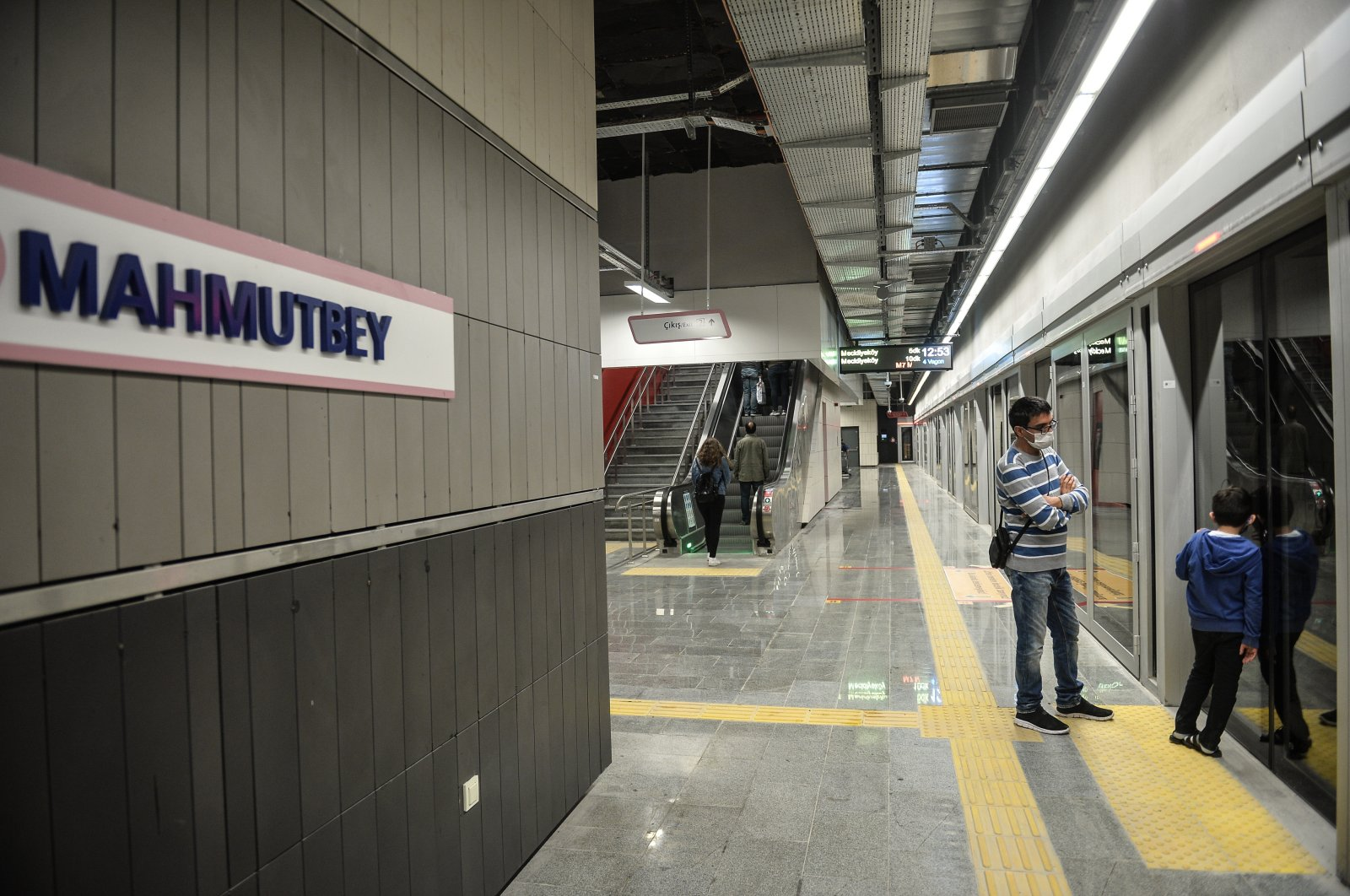 A view of Istanbul's Mahmutbey Subway Station, Istanbul Turkey, Oct. 29, 2020. (DHA)