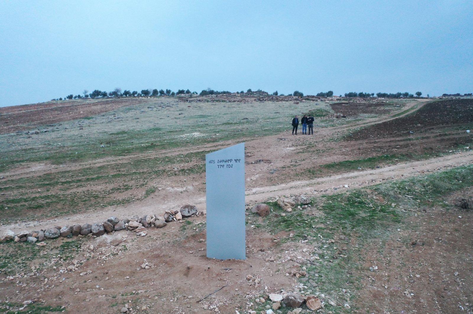A view of the monolith before its disappearance, in Şanlıurfa, southeastern Turkey, Feb. 8, 2021. (AA Photo)