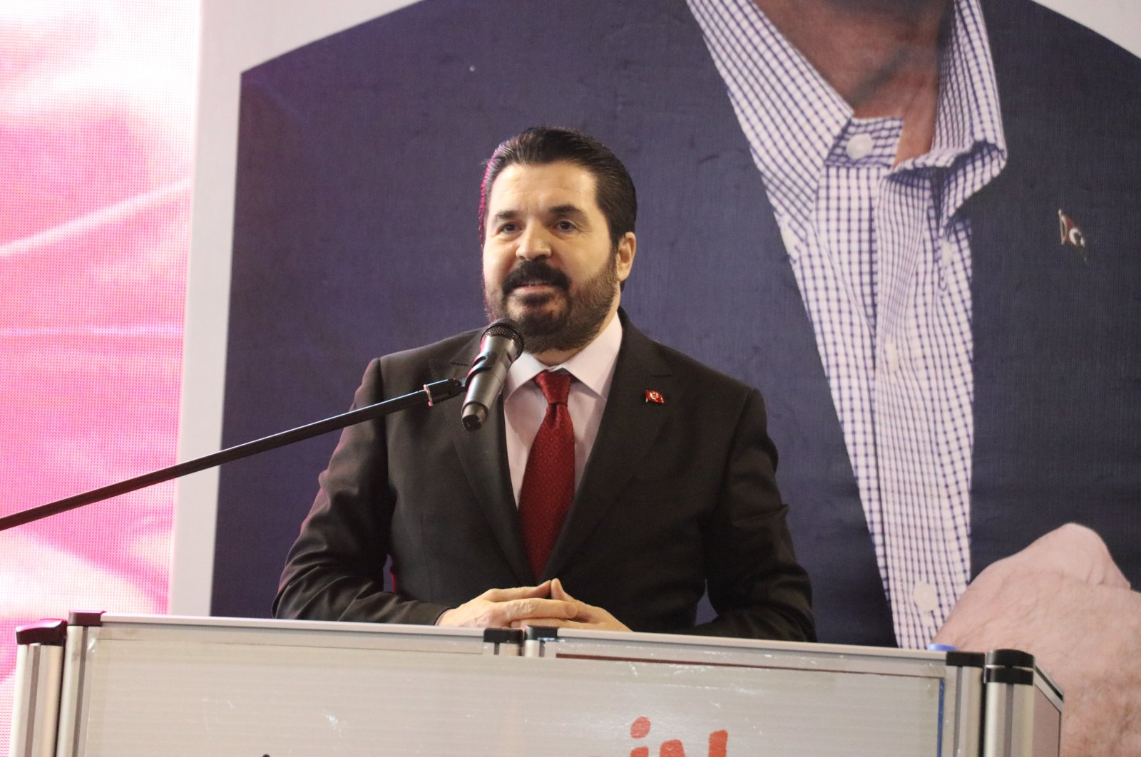 Ağrı Mayor Savcı Sayan speaks at the Justice and Development Party's (AK Party) Youth Congress in Ağrı province, eastern Turkey, Feb. 8, 2021 (AA Photo)