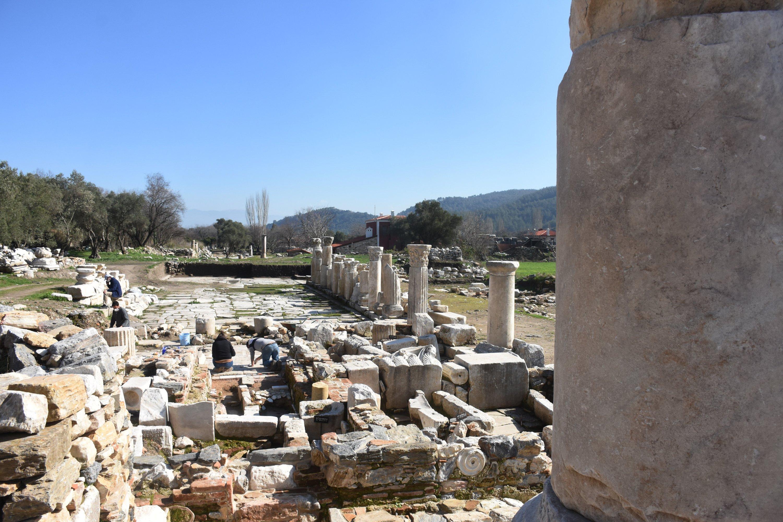 The remains of the ancient city of Stratonikeia, Muğla, southwestern Turkey, Feb. 9, 2021. (AA Photo)