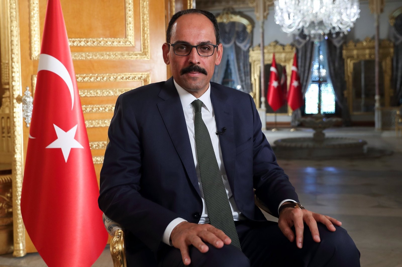 Presidential Spokesperson Ibrahim Kalın during an interview with Reuters in Istanbul, Turkey, Sept. 27, 2020. (Reuters Photo)